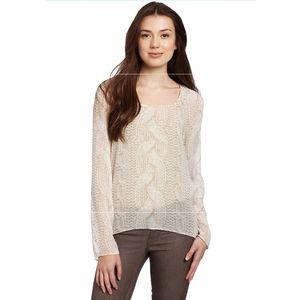 Kensie silky illusion blouse